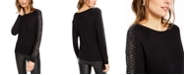 INC International Concepts INC Embellished-Sleeve Sweater, Created For Macy's