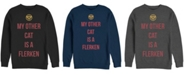 Marvel Men's Captain Marvel My Cat is a Flerken, Crewneck Fleece