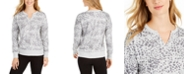 Ideology Printed Split-Neck Top, Created For Macy's