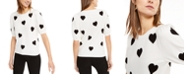 INC International Concepts INC Intarsia Heart Short-Sleeve Sweater, Created For Macy's