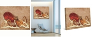 "Creative Gallery Dat Crafty Octopus in Rust 36"" x 24"" Canvas Wall Art Print"