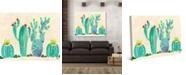 "Creative Gallery Fun Fresh Cactus Watercolor 24"" x 20"" Canvas Wall Art Print"