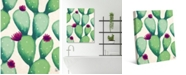 """Creative Gallery Blooming Cactus 20"""" x 16"""" Canvas Wall Art Print"""