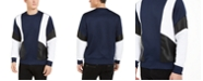 INC International Concepts INC Men's Ribbed Colorblocked Sweatshirt, Created For Macy's