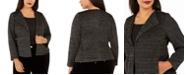 Nine West Plus Size Metallic Knit Blazer