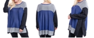 Fever Plus Size Colorblocked Sweater