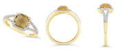 Macy's Citrine (1-1/3 ct. t.w.) and Created White Sapphire (1/4 ct. t.w.) Ring in 10k Yellow Gold