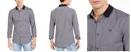 A|X Armani Exchange Men's Slim-Fit Dobby Stripe Contrast Collar Shirt