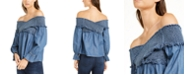 INC International Concepts INC Petite Smocked Off-The-Shoulder Top, Created For Macy's