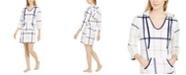 Nautica Women's Long Sleeve Hooded Fleece Pajama Lounger, Online Only