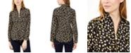 Michael Kors Floral-Print Zip-Front Top, Regular & Petite