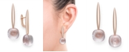 Macy's Rose Quartz Drop Earrings in Rose Gold over Silver