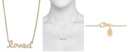 Serena Williams Jewelry Diamond (1/6 ct. t.w.) 'loved' Necklace in 14K Yellow Gold