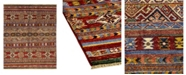 """Timeless Rug Designs CLOSEOUT! One of a Kind OOAK1138 Caramel 4'2"""" x 6'2"""" Area Rug"""