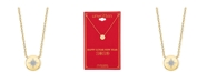 """Unwritten Cubic Zirconia Star Pendant Necklace in Gold Plate, 16"""" + 2"""" extender"""