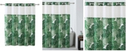 Hookless Palm Leaf Shower Curtain with Peva Liner