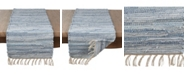 Saro Lifestyle Long Table Runner with Chindi Woven Design