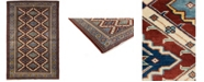 "Timeless Rug Designs One of a Kind OOAK3877 Cherry 3'10"" x 5'10"" Area Rug"