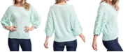 Fever Chevron-Striped Popcorn-Textured Sweater