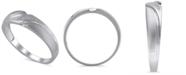 Macy's Men's Certified Diamond Accent Ring in 14K White Gold