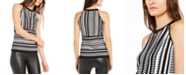 INC International Concepts INC Striped Keyhole Sweater, Created for Macy's