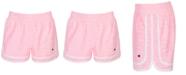Champion Little Girls Varsity Logo-Print Shorts
