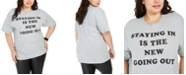 Love Tribe Hybrid Trendy Plus Size Staying In T-Shirt, Created For Macy's