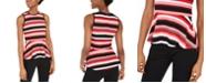 Michael Kors Striped Peplum Top, Regular & Petite
