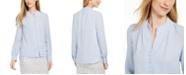Calvin Klein Long-Sleeve Button-Up Blouse