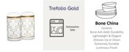 """Noritake Trefolio Gold Salt & Pepper, 4"""""""