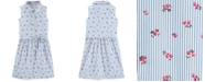 Carter's Little & Big Girls Floral Striped Cotton Shirtdress