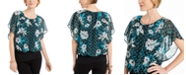 JM Collection Flutter-Sleeve Banded-Hem Top, Created For Macy's