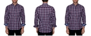 TailorByrd Men's Big and Tall Classic Plaid Button-Down Shirt