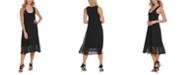 DKNY Sheer-Hem Sleeveless Dress