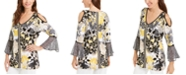 JM Collection Printed Cold-Shoulder Tunic Top, Created For Macy's