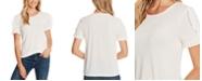CeCe Ruffled-Sleeve T-Shirt