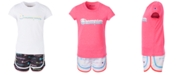 Champion Toddler Girls 2-Pc. Multi-Color Shadow Script Logo T-Shirt & Short Set