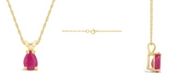 Macy's Ruby (9/10 ct. t.w.) Pendant Necklace in 14k Yellow Gold