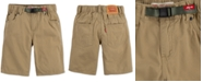 Levi's Big Boys 502™ Regular-Tapered Fit Twill Camp Shorts