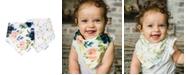 tiny twinkle Baby Boys and Girls Pack of 2 Blush Bandana Bib Set