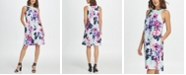 DKNY Sleeveless Trapeze Floral Dress
