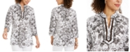 Charter Club Split-Neck Tunic, Created for Macy's