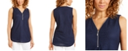 JM Collection Zippered-Neck Top, Created for Macy's