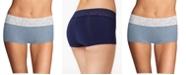 Maidenform Cotton Dream Lace Boyshort Underwear 40859
