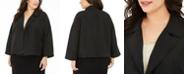Eileen Fisher Plus Size Organic Drape-Front Jacket