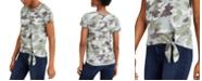 Lucky Brand Camo Side-Tie T-Shirt