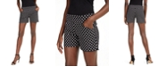 INC International Concepts I.N.C. International Concepts Plus Size Polka Dot Bengaline Shorts, Created For Macy's