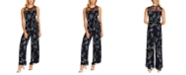 Vince Camuto Weeping Willows Belted Jumpsuit