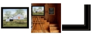 Trendy Decor 4U Trendy Decor 4u Tulip Quilt Block Barn by Billy Jacobs, Ready to Hang Framed Print Collection