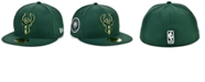 New Era Milwaukee Bucks The Circle Patch 59FIFTY-FITTED Cap